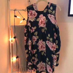 Xhilaration Fall Floral Dress Size Large